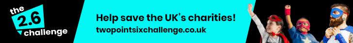 help save UK charities banner